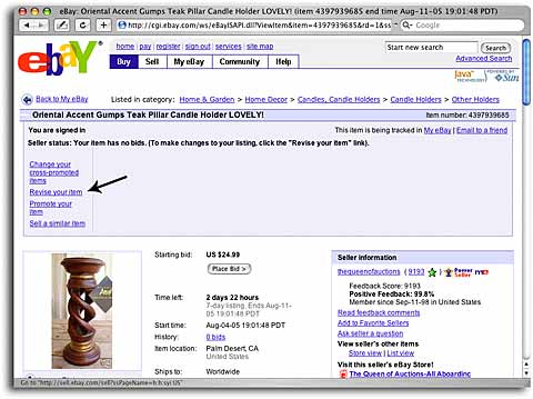 Ebay Seller Advice What To Do When You Make A Mistake In A Live Listing The Queen Of Auctions